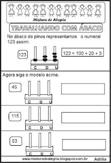 Atividades com ábaco matemática