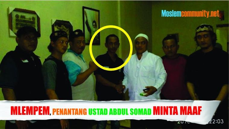 Lucu! Awalnya Sok Nantangin Ustadz Abdul Somad, Eh Pas Disamperin Malah Mlempem Minta Maaf, Ini Videonya