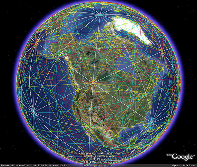 Ley Lines Map Canada LEY LINES