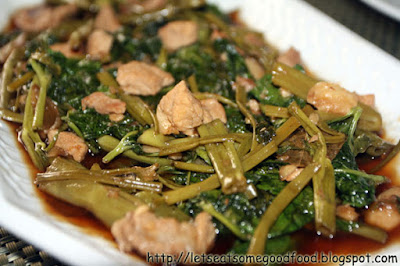 Adobong+Kangkong - Adobong Kangkong (Water Spinach Adobo) Recipe