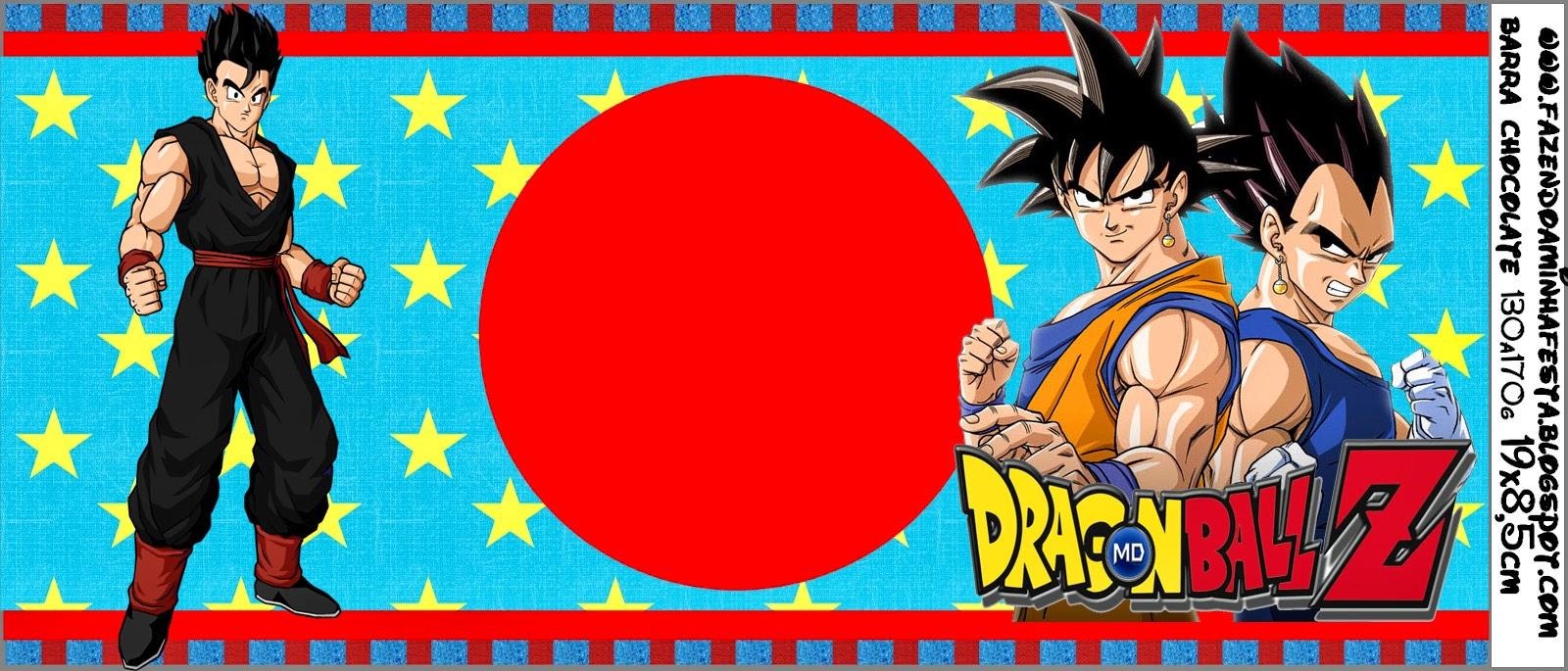 Dragon Ball Z: Etiquetas para Candy Bar para Imprimir Gratis ...