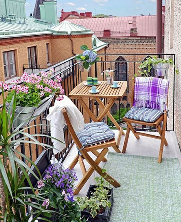 7 Ideas For Decorating Balconies or Terraces 8