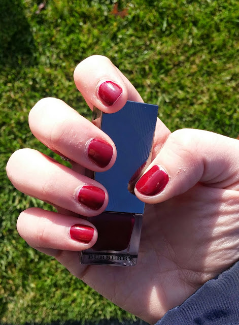 burberry oxblood nail polish