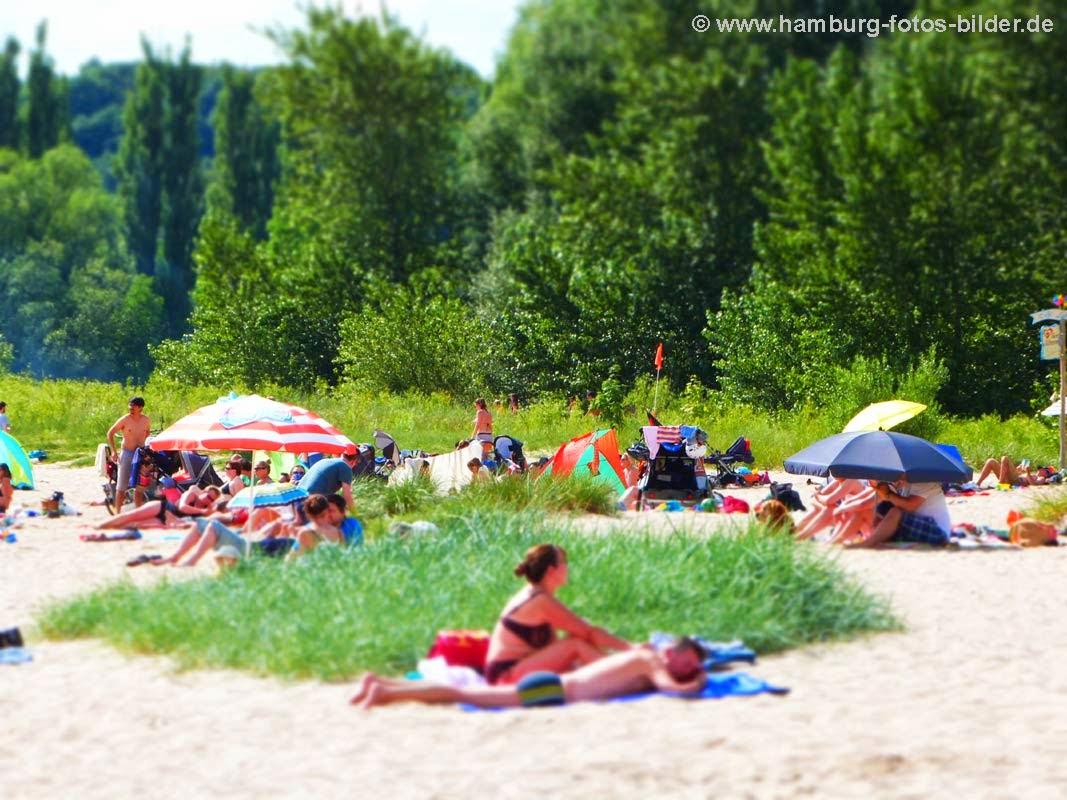 Sandstrand Hamburg, Relaxen am Strand, Strände in Hamburg