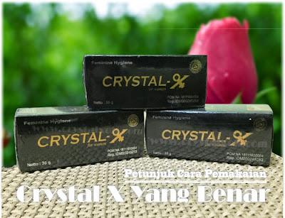 cara pakai crystal x yang benar