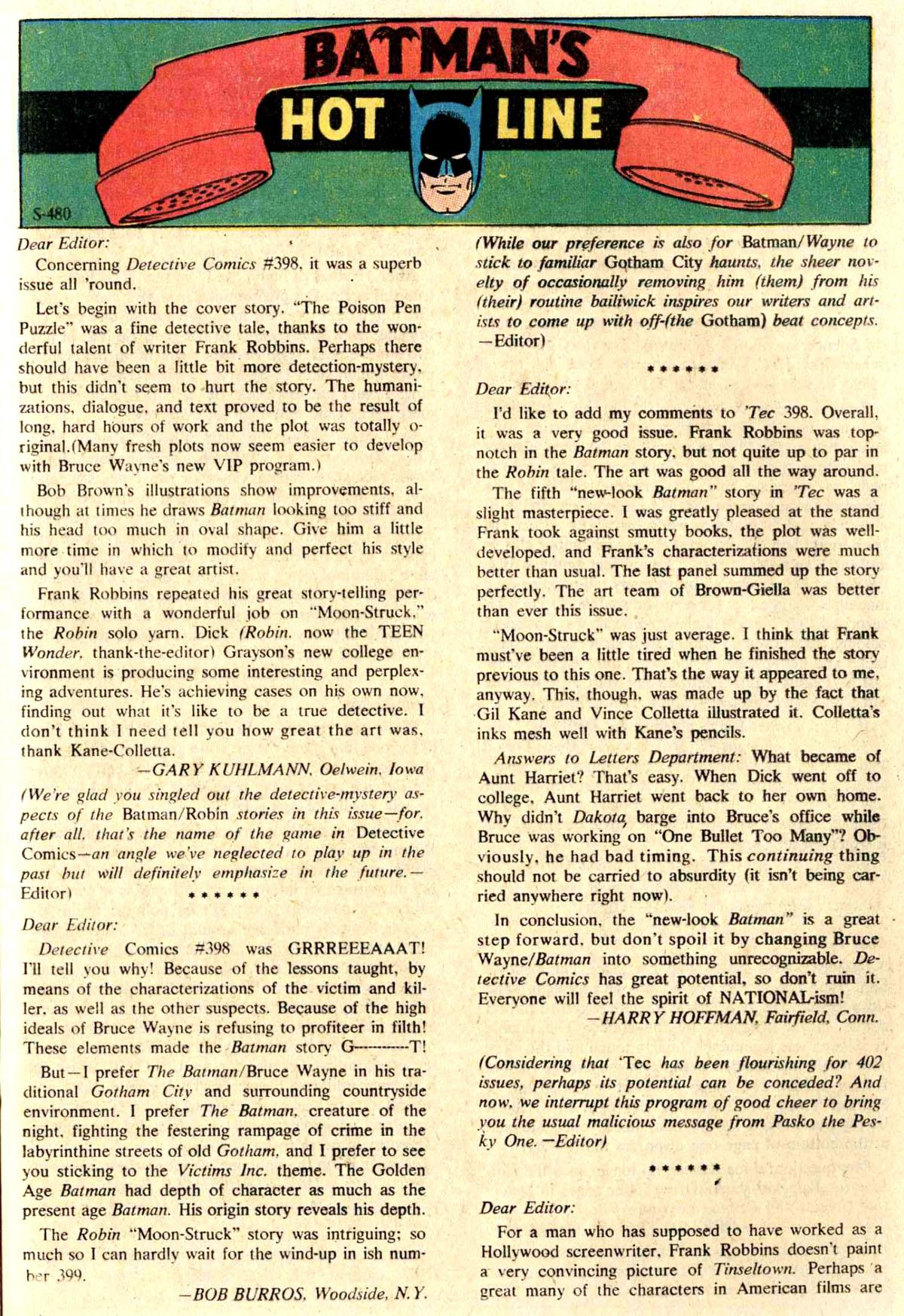 Detective Comics (1937) 402 Page 20