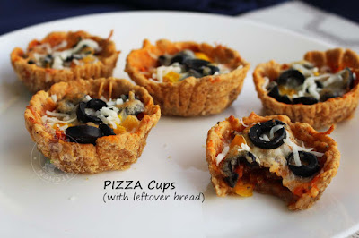 bread pizza cups recipe with leftover bread simple easy recipes snacks