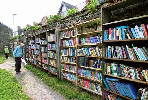 Boxes of-hay-on-wye-wales
