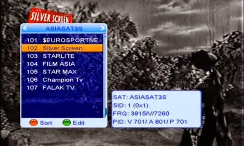 Silver Screen,Film Asia ,Filmax Fta On Asiasat7@105.5 E