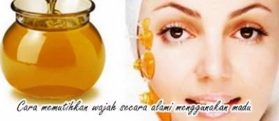 Cara memutihkan wajah secara alami menggunakan madu