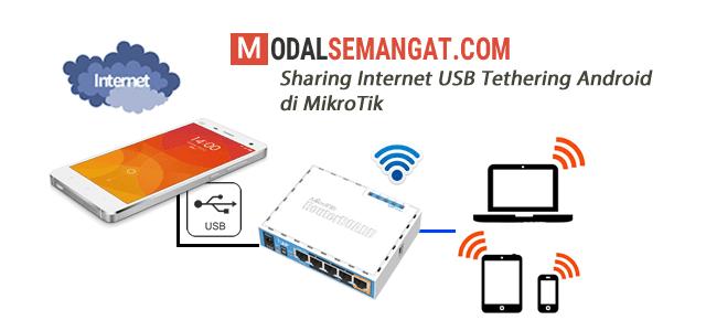 USB Tethering Android di MikroTik