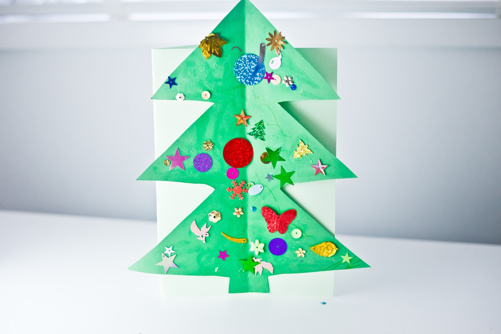 Christmas tree card craft