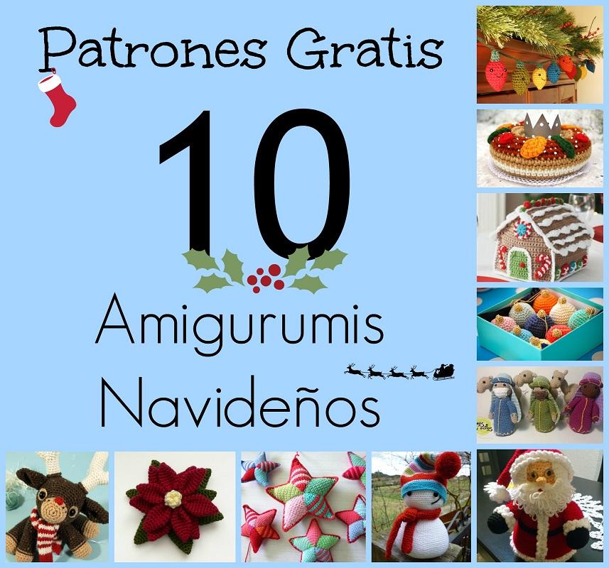 10 Patrones Gratuitos de Amigurumis Navideños - Arte Friki