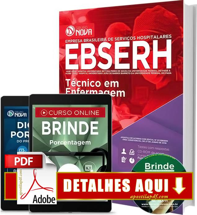 Apostila EBSERH PA 2016 Técnico em Enfermagem Impressa