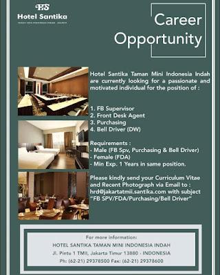 Lowongan Hotel Santika TMII Jakarta