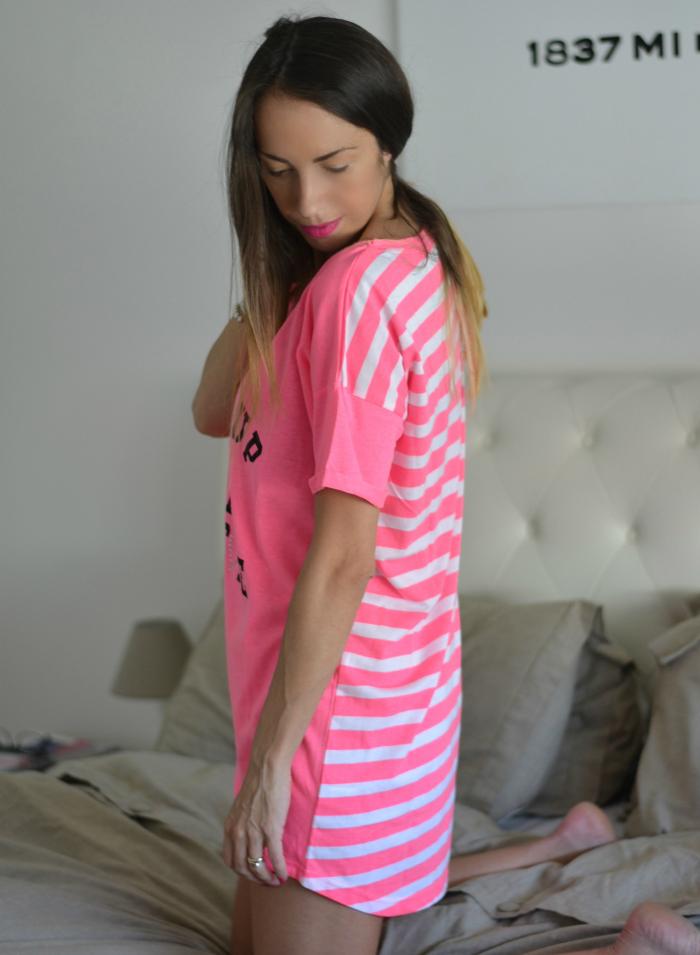 pigiama rosa righe