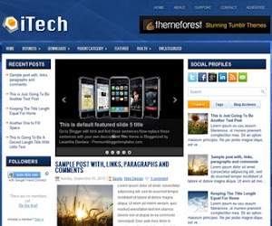 iTech 3 Column Blogger Template