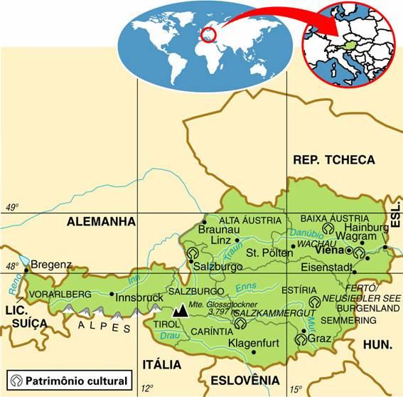 Áustria | Aspectos Geográficos e Socioeconômicos da Áustria