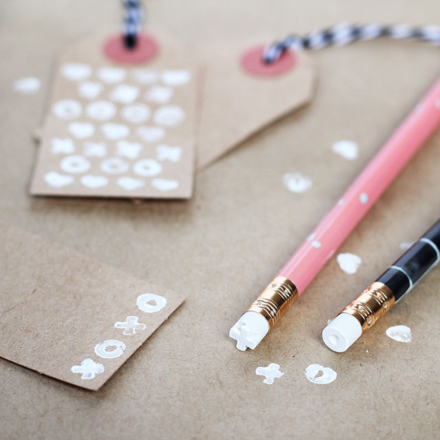 DIY Pencil Eraser Stamps #handmade