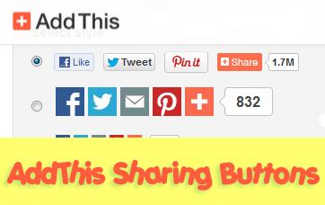 Share blog posts in social media using addthis helplogger for Sharethis com https