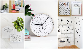 Spotted and polka dotted home office DIY project ideas