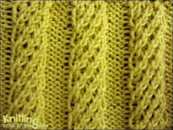 Mock Cable - Spiral Columns - Knitting Stitch Patterns
