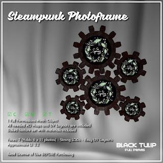 [Black Tulip] Mesh - Steampunk Photoframe