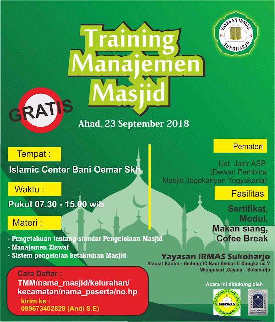 Yuuk Ikuti Training Manajemen Masjid Gratis
