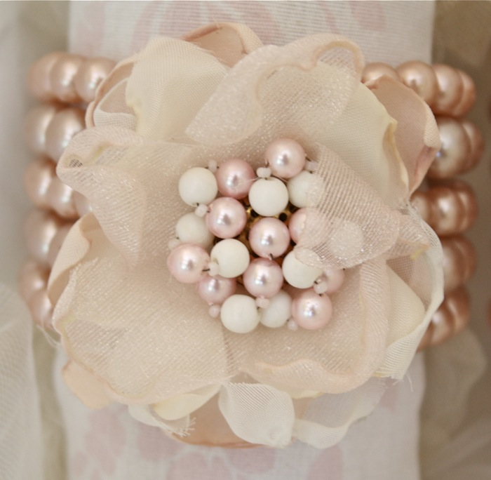 Making Fabric Flowers Wedding: The Polka Dot Closet: Fabric Flower Bracelet Corsages For