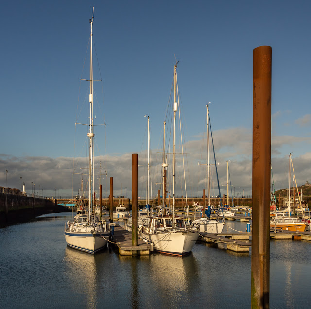 Photo of a sunny interval at Maryport Marina on Sunday