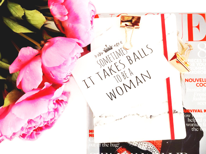 woman, balls, sometimes it takes balls to be a woman, peonies
