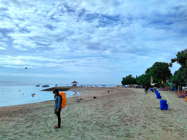 Pantai Sanur, Bali, dermaga fast boat ke Nusa Penida