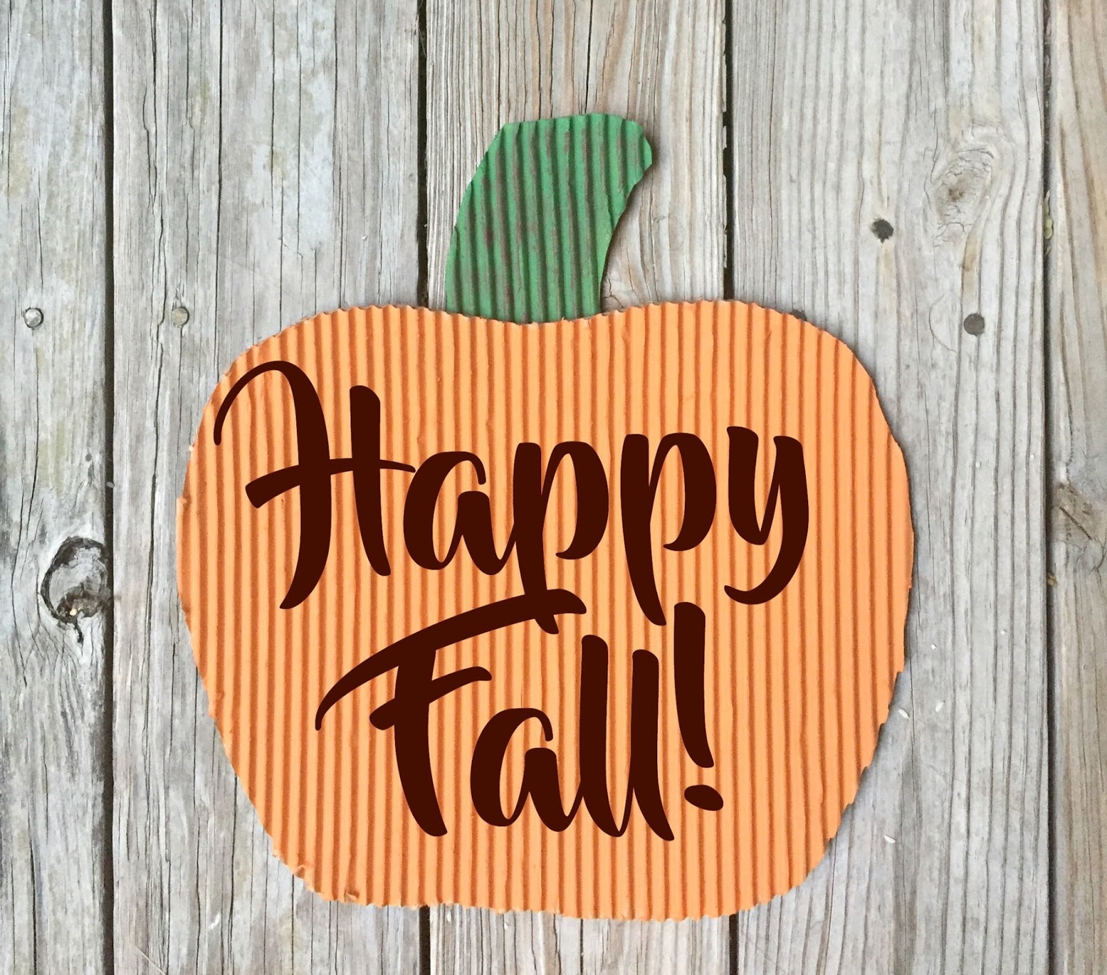 vikalpah: diy corrugated pumpkin sign