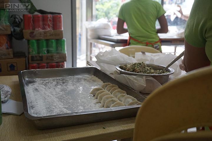 Dong Bei dumplings made right before everyone's eye