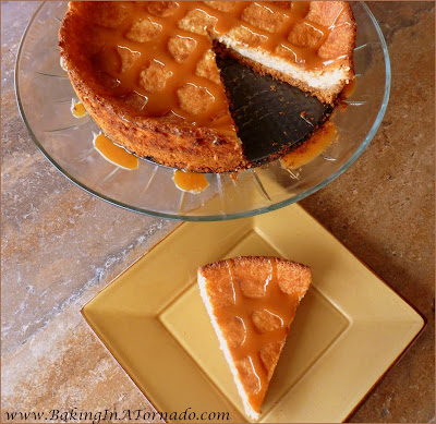 Spiked Caramel Pie, a light, rich pie baked with caramel and spiked with liqueur | Recipe developed by www.BakingInATornado.com | #recipe #pie