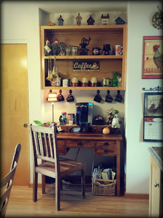 Creating my coffee / hot beverage bar
