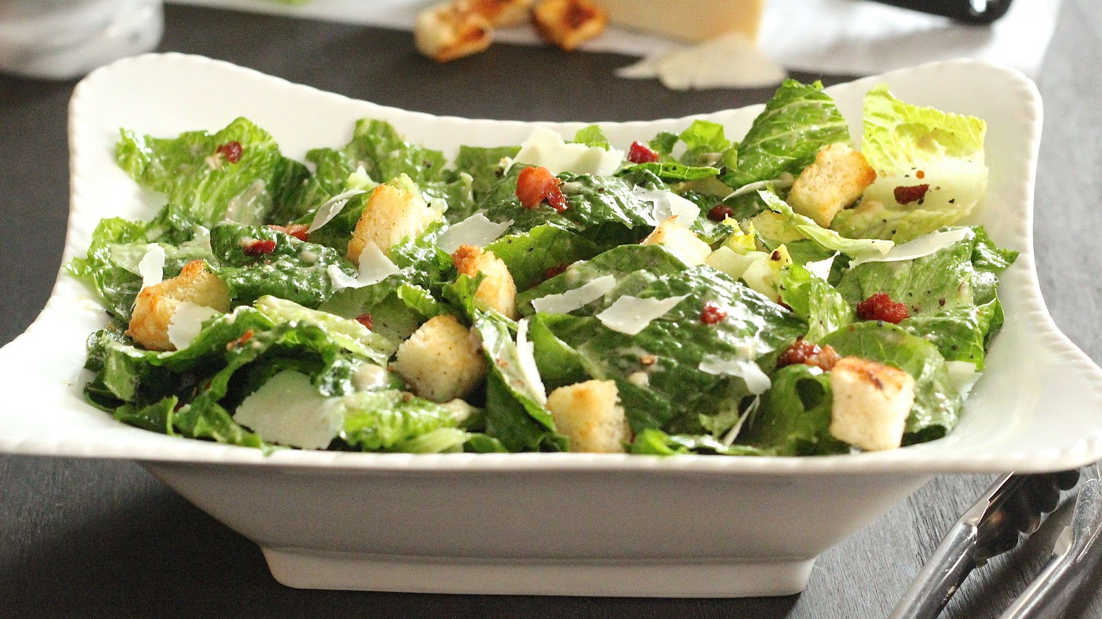 Image result for caesar salad with pancetta