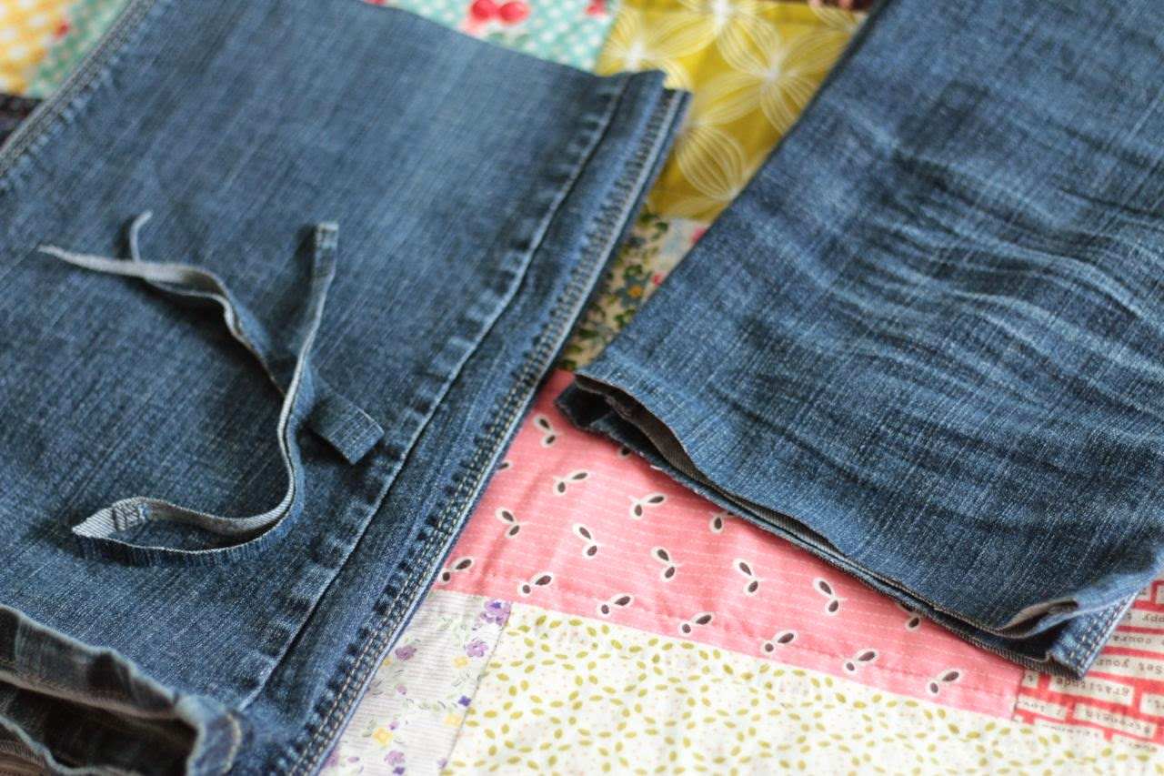 My favourite jeans, all shopped up ready for a new pretty hem