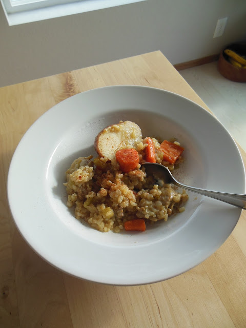 Savory Rice Stew, as simple formula to get dinner on the table fast!