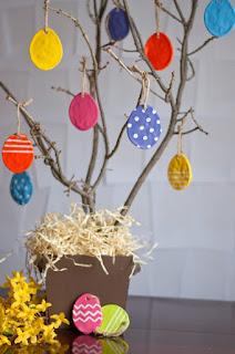 come realizzare uova per albero di pasqua in pasta modellabile