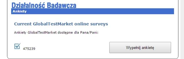 GlobalTestMarket ankiety