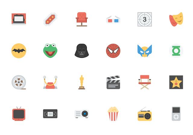 Paquete de iconos de entretenimiento