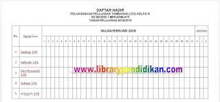 Daftar Hadir LES Bulan Februari 2019, http://www.librarypendidikan.com/