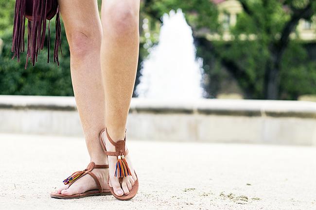 JustFab Carmencita Tassel Sandals