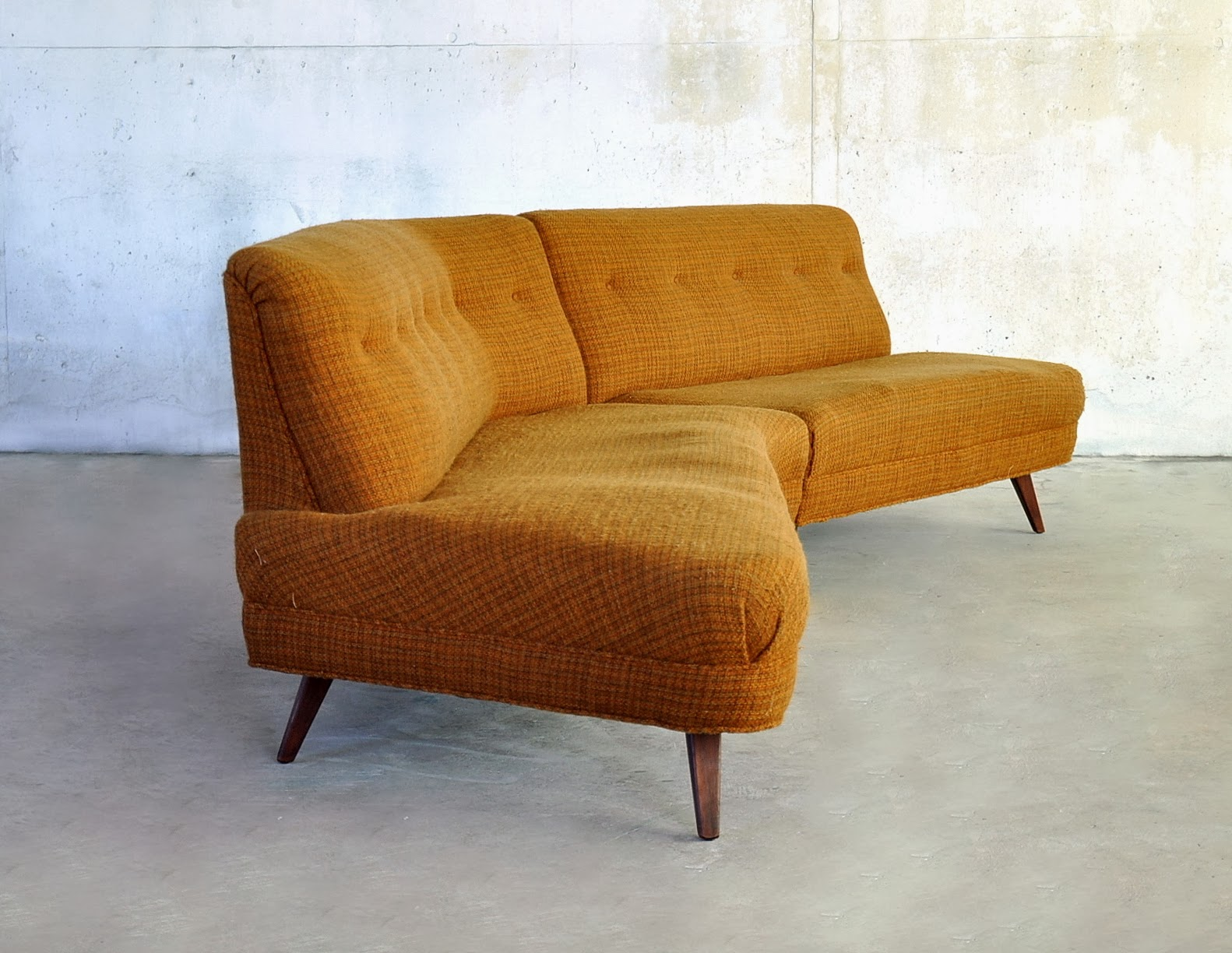 mid century modern sofa designs a rudin 2733 select sectional