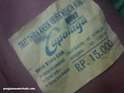 Harga tiket masuk Wisata Alam Capolaga Adventure Camp Subang