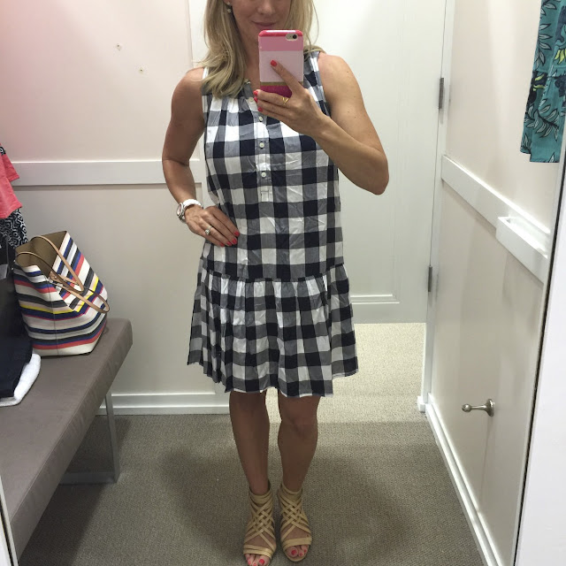Summer Fashion -gingham drop waist dress #outfit #outfitinspo #summerfashion