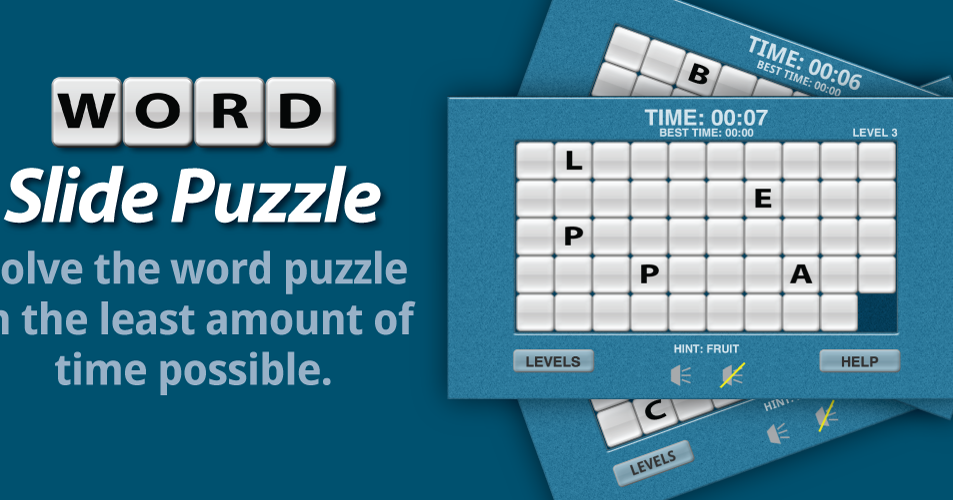 Word Slide Puzzle game for Android Phone