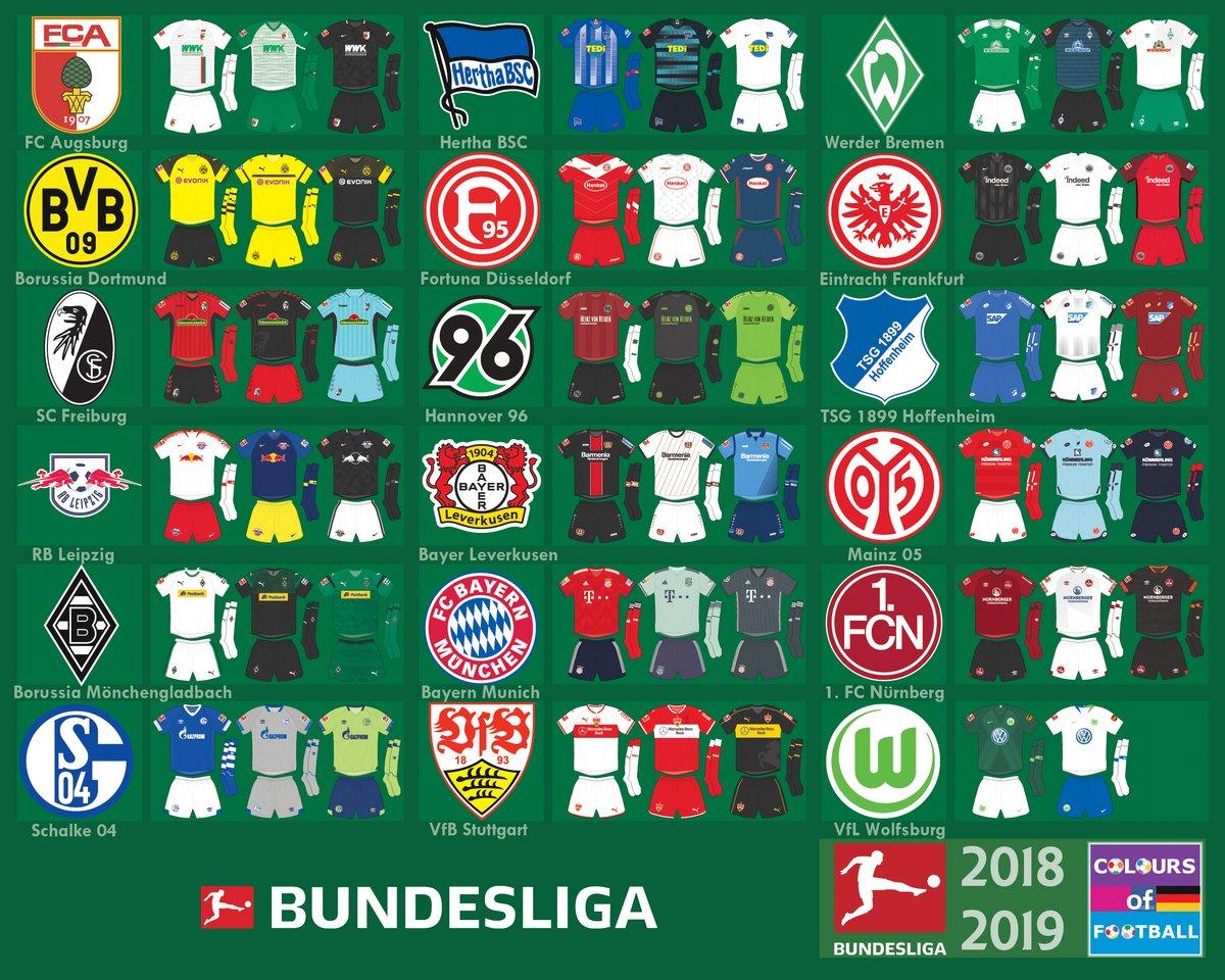 7fce9a82e8 Confira todas as camisas dos clubes do Campeonato Alemão 2018 19 ...
