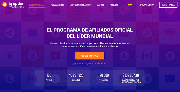 Programa de socios de IQ Option